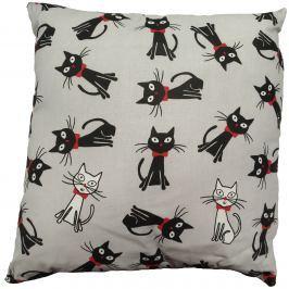 My Best Home Dětský polštář Kočky, 40x40 cm - šedý