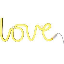 Little Lovely Company Neonové světýlko, love žlutá Noční světýlka a lampičky