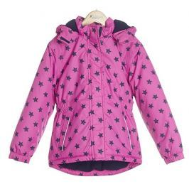 Nickel sportswear Dívčí zateplená bunda s hvězdičkami - růžová