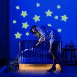 Housedecor Velká svítící samolepka na zeď Hvězdy
