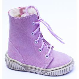 První krůčky Dívčí zimní boty se zipem - fialové