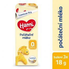 Hami Počáteční kojenecké mléko 0+, 3x18g
