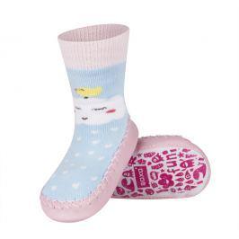 SOXO® Dívčí ponožky s podrážkou Ptáček na mráčku - barevné