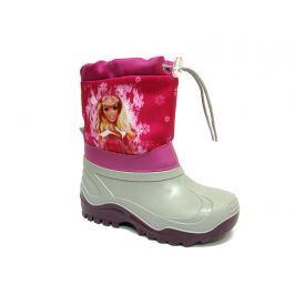 Ren But Dívčí sněhule Barbie se šněrováním - šedo-růžové