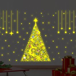 Walplus Svítí samolepka na zeď - vánoční stromeček
