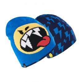 Brekka Chlapecká oboustranná čepice Camo Smiley - modrá