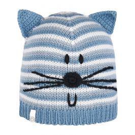 Brekka Dívčí čepice s kočičkou Puppy - modrá