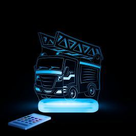 Aloka Noční světýlko Hasičské auto + ovladač pro volbu barev