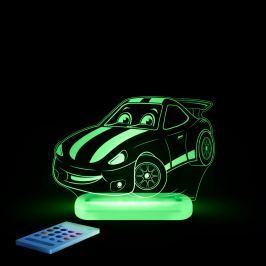 Aloka Noční světýlko Závodní auto + ovladač pro volbu barev Noční světýlka a lampičky