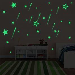 Walplus Svítící samolepka na zeď Hvězdy a Meteorický déšť