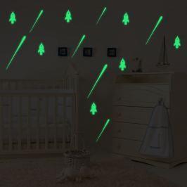 Walplus Svítící samolepka na zeď Rakety a Meteorický déšť