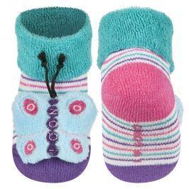 SOXO® Dívčí ponožky s motýlem - barevné