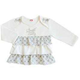 2be3 Dívčí tunika Elegant girl - bílá