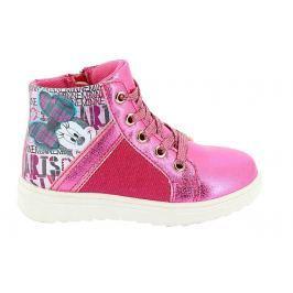 Disney by Arnetta Dívčí kotníkové tenisky Minnie - růžové