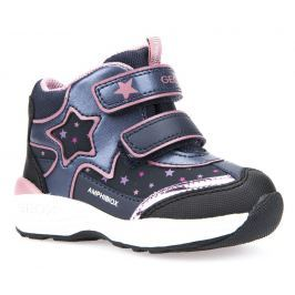 Geox Dívčí zimní boty s hvězdou New Gulp  - tmavě modré