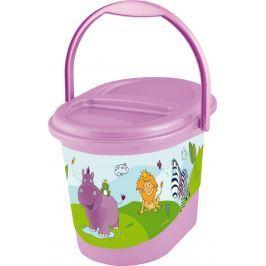 Keeeper Koš na pleny Hippo, fialový