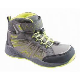 Peddy Chlapecké kotníkové outdoorové boty - zeleno-šedé