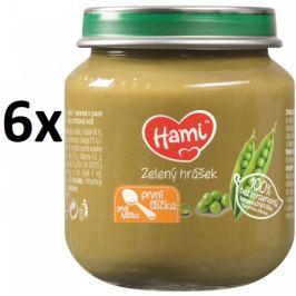 Hami Příkrm zelený hrášek, 6x125g