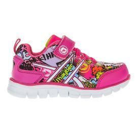 J HAYBER Dívčí tenisky s barevným potiskem - růžové