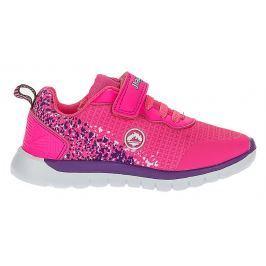 J HAYBER Dívčí tenisky s fialovým potiskem - růžové