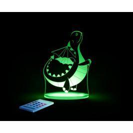 Aloka Noční světýlko Dráček + ovladač pro volbu barev