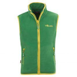 Trollkids Chlapecká fleecová vesta Arendal - zeleno-žlutá