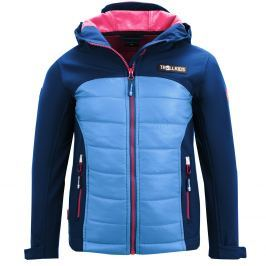 Trollkids Dívčí softshellová bunda Lysefjord - modro-růžová