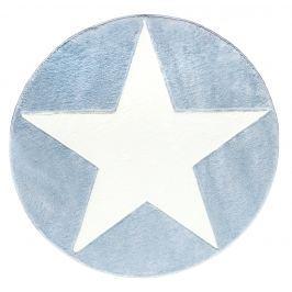 Happy Rugs Dětský kruhový koberec s hvězdou - modrý, průměr 133 cm