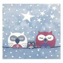 Happy Rugs Dětský koberec sovy a hvězdy, 140x140 cm