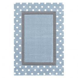 Happy Rugs Dětský koberec s puntíky - stříbrná modrá/šedá, 120x180 cm
