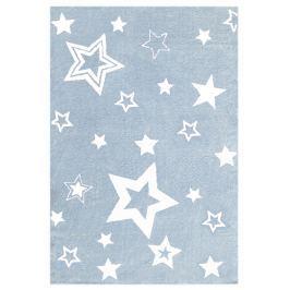 Happy Rugs Dětský koberec modrý s bílými hvězdami, 100x160 cm
