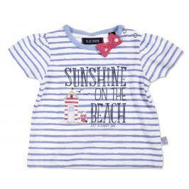 Blue Seven Dívčí proužkované tričko Sunshine - bílo-modré