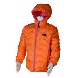 PIDILIDI Dívčí nylonová prošívaná bunda - oranžová