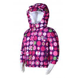 PIDILIDI Dívčí zimní bunda s kolečky - růžová