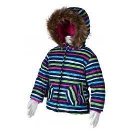Bugga Dívčí pruhovaná lyžařská bunda - barevná
