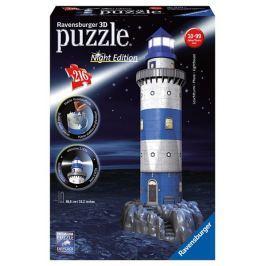 Ravensburger Puzzle Maják v příboji Noční edice 3D 216 dílků