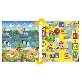 Delta Dětský pěnový oboustranný koberec Draci a desková hra