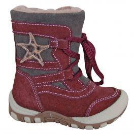 Protetika Dívčí zimní boty s hvězdičkou Verona - vínové