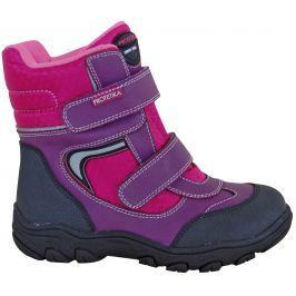 Protetika Dívčí kotníkové zateplené boty Nordika - růžovo-fialové