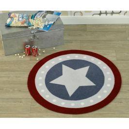 Hanse Home Dětský kulatý koberec Hvězda, 100 cm - barevný