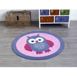 Hanse Home Dětský kulatý koberec Sova, 100 cm - světle fialový