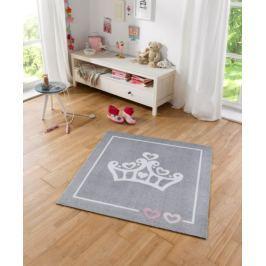 Hanse Home Dětský koberec Korunka, 100x100 cm - šedý