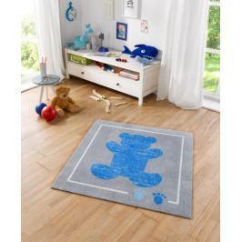 Hanse Home Dětský koberec Medvídek, 100x100 cm - modro-šedý