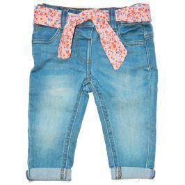 Minoti Dívčí kalhoty Pretty 5 s šátkem - modré