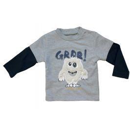 Carodel Chlapecké tričko s příšerkou - šedé