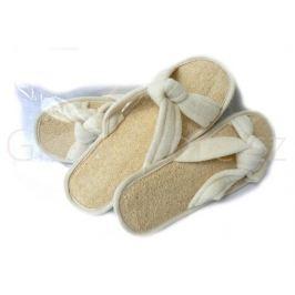 Dámské pantofle, nazouváky z přírodní lufy DOPRODEJ - 1ks