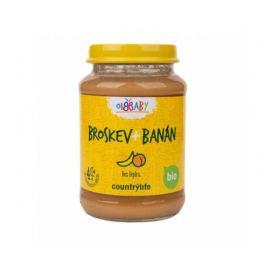 Příkrm broskev, banán 190g BIO Country Life