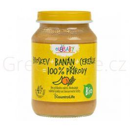 Příkrm broskev, banán, cereálie 190g BIO Country Life - DOPRODEJ 2ks