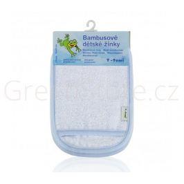 Bambusové koupací žínky - rukavice, modro - bílá T-tomi