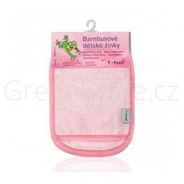Bambusové koupací žínky - rukavice, růžová T-tomi